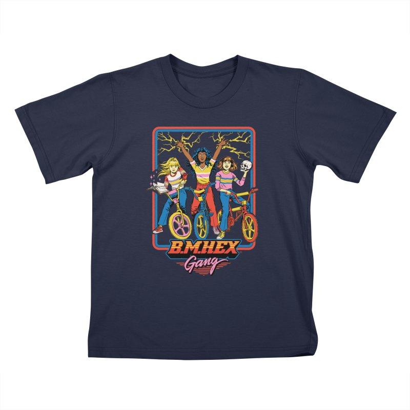 B.M.Hex Gang Kids T-Shirt by Steven Rhodes