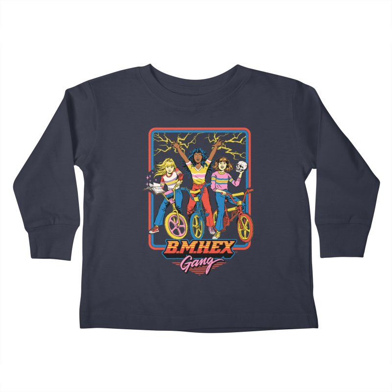 B.M.Hex Gang Kids Toddler Longsleeve T-Shirt by Steven Rhodes