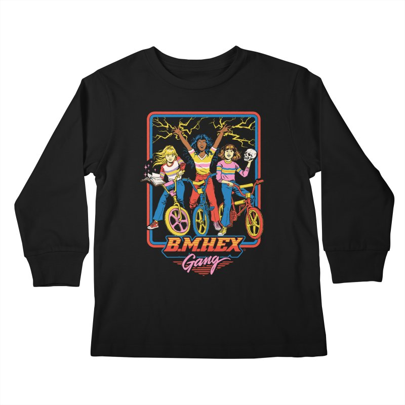 B.M.Hex Gang Kids Longsleeve T-Shirt by Steven Rhodes