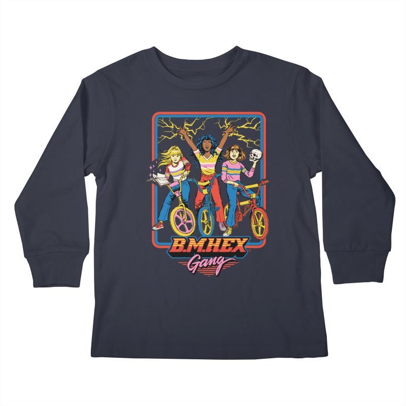 B.M.Hex Gang Kids Longsleeve T-Shirt by Steven Rhodes