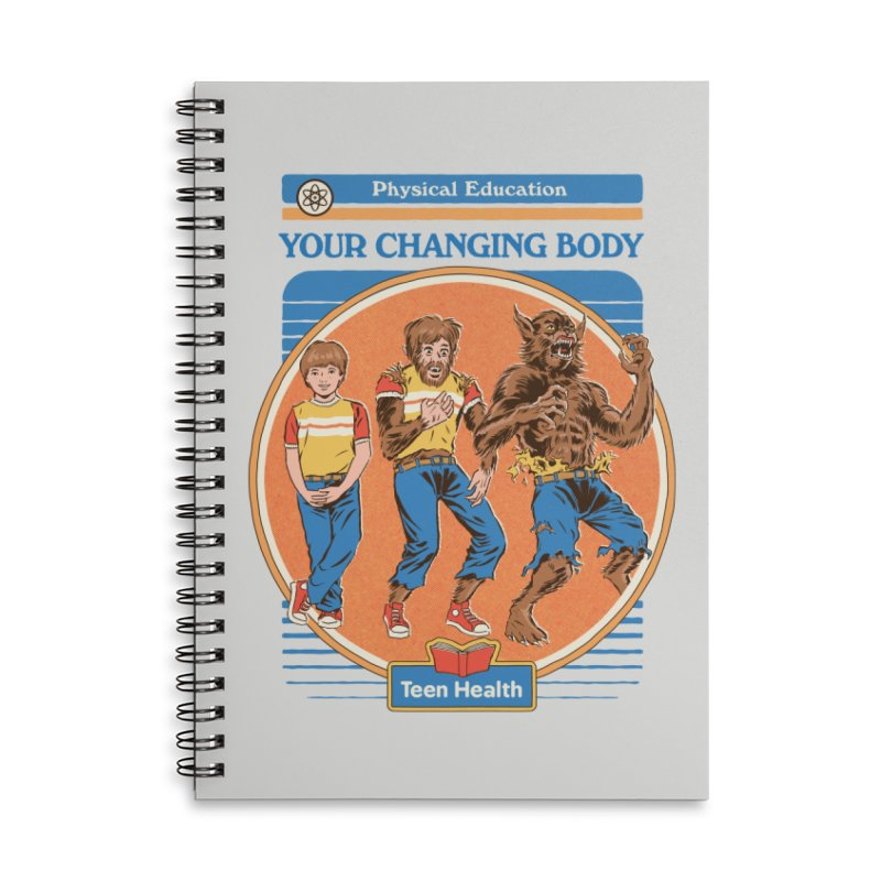 Your Changing Body Accessories Lined Spiral Notebook by Steven Rhodes