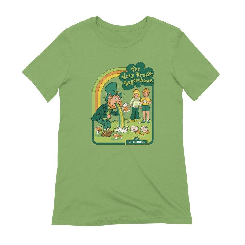 The Very Drunk Leprechaun Women's Extra Soft T-Shirt by Steven Rhodes