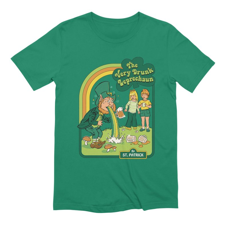 The Very Drunk Leprechaun Men's Extra Soft T-Shirt by Steven Rhodes