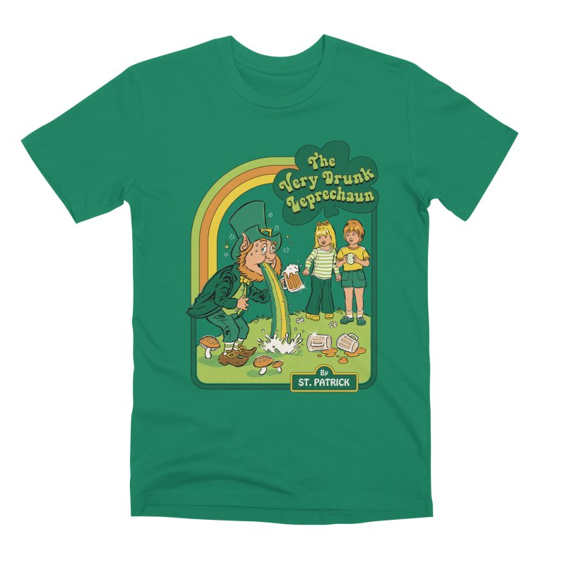 The Very Drunk Leprechaun Men's Premium T-Shirt by Steven Rhodes