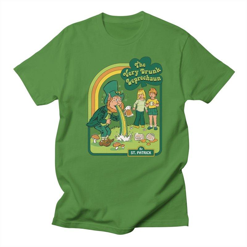 The Very Drunk Leprechaun Men's Regular T-Shirt by Steven Rhodes