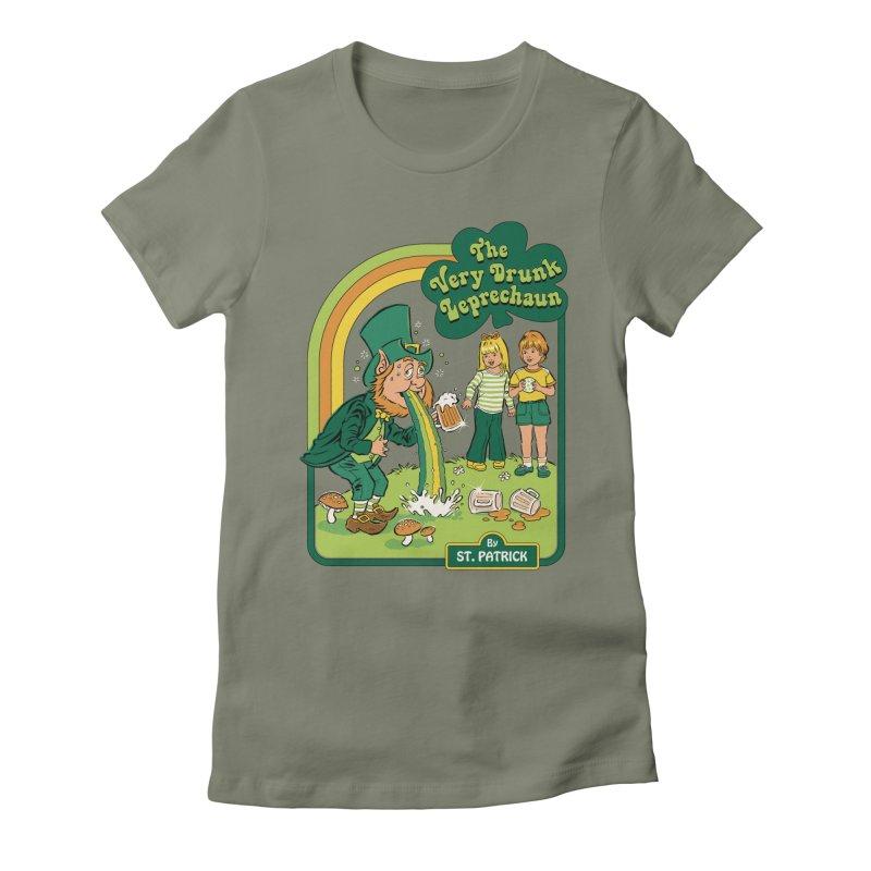 The Very Drunk Leprechaun Women's Fitted T-Shirt by Steven Rhodes