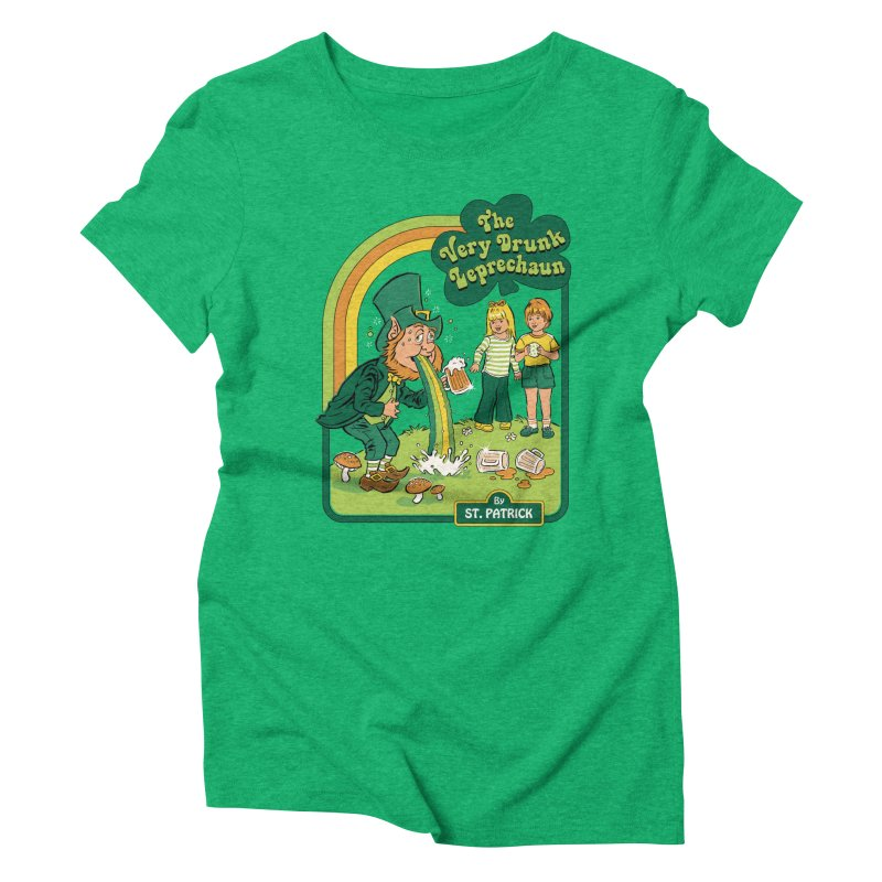 The Very Drunk Leprechaun Women's Triblend T-Shirt by Steven Rhodes