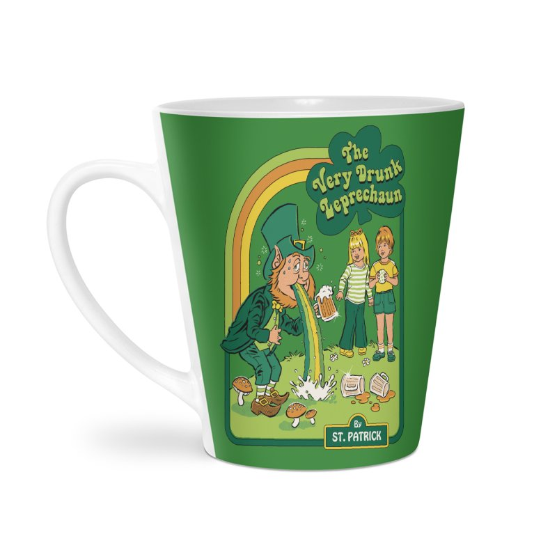 The Very Drunk Leprechaun Accessories Latte Mug by Steven Rhodes