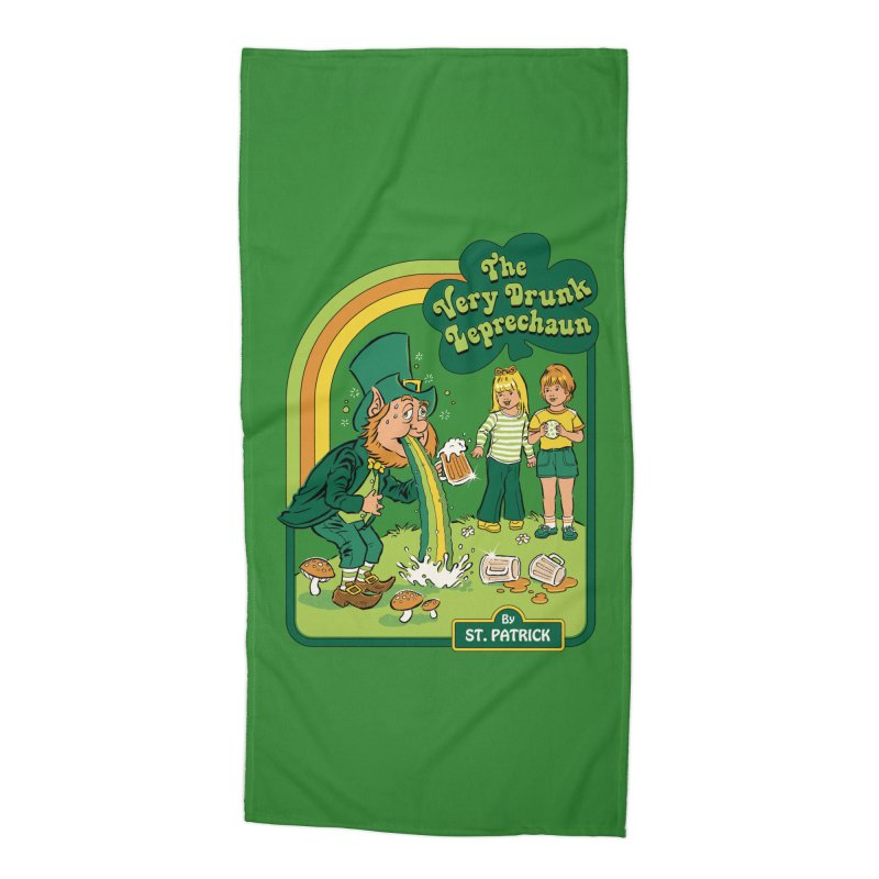 The Very Drunk Leprechaun Accessories Beach Towel by Steven Rhodes