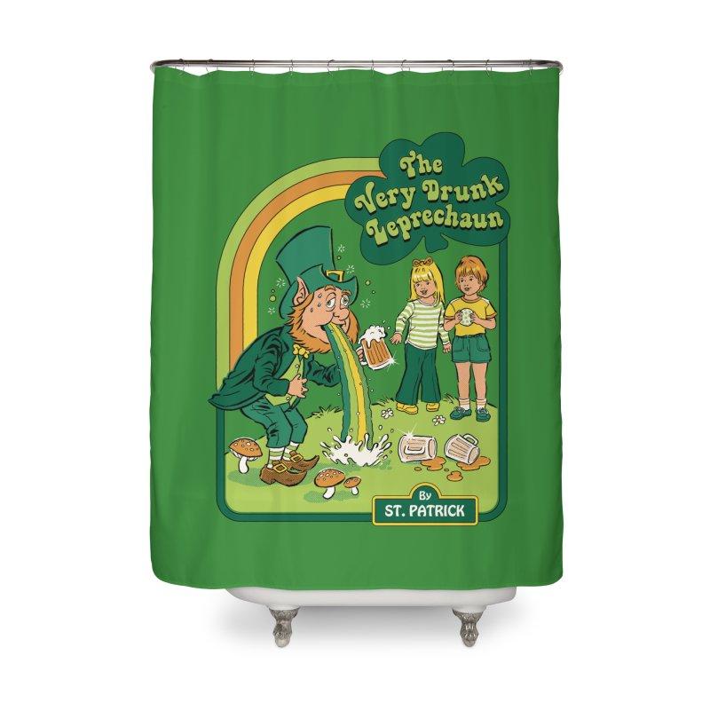 The Very Drunk Leprechaun Home Shower Curtain by Steven Rhodes