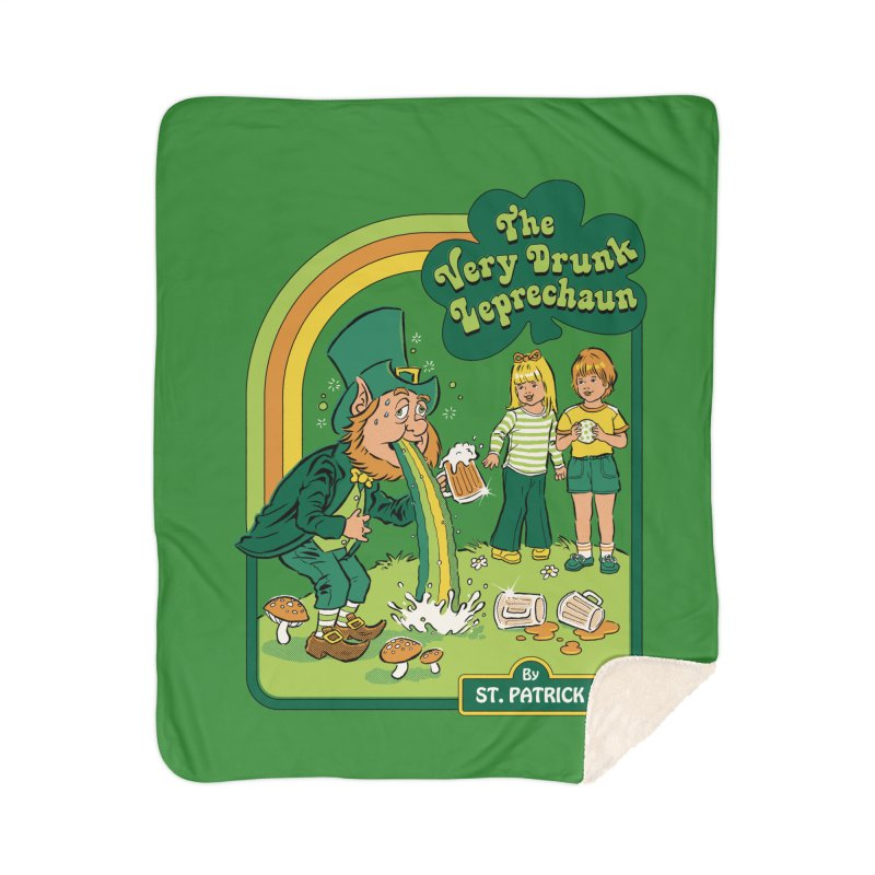 The Very Drunk Leprechaun Home Sherpa Blanket Blanket by Steven Rhodes