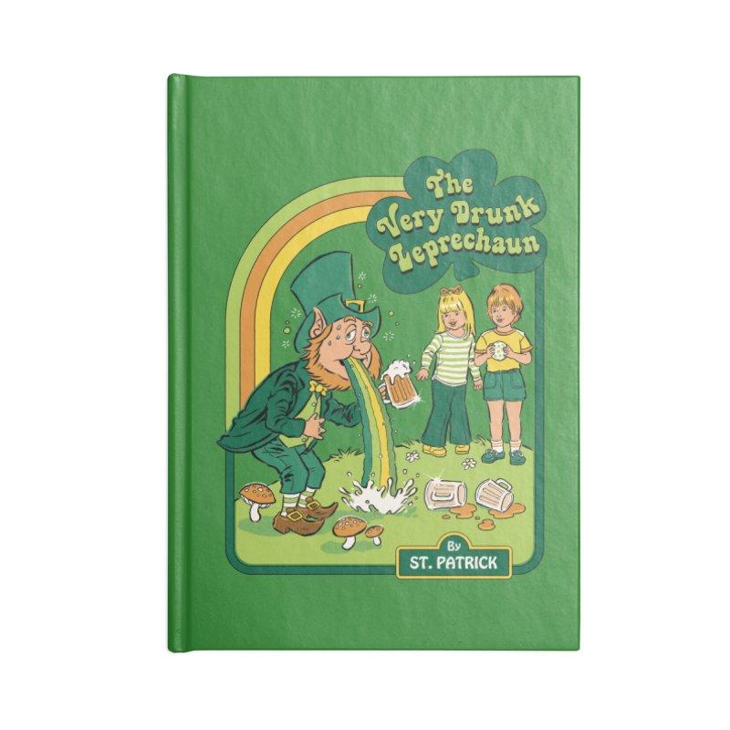 The Very Drunk Leprechaun Accessories Lined Journal Notebook by Steven Rhodes