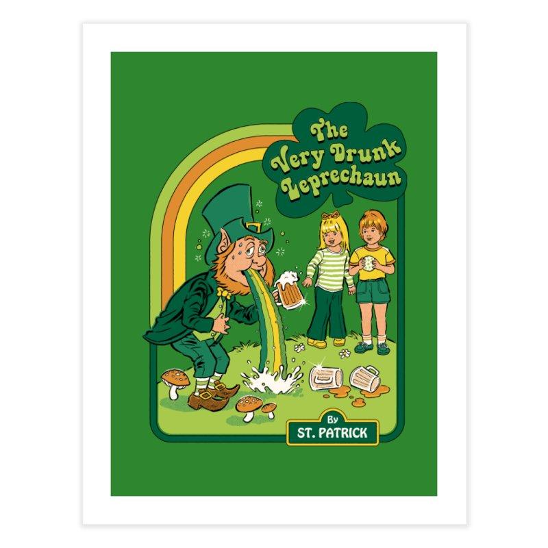The Very Drunk Leprechaun Home Fine Art Print by Steven Rhodes