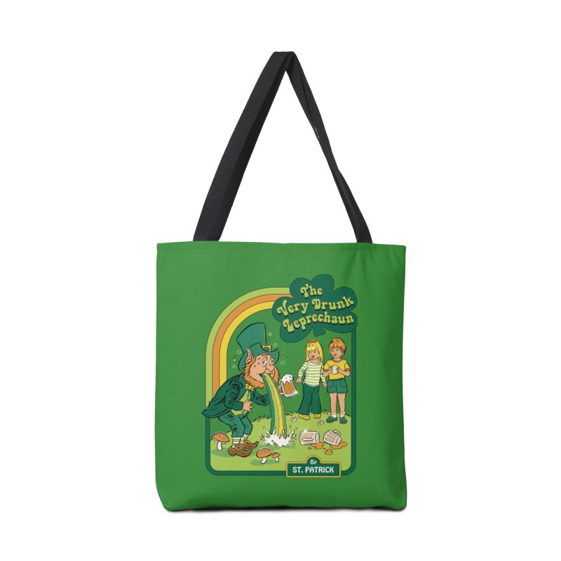 The Very Drunk Leprechaun Accessories Tote Bag Bag by Steven Rhodes
