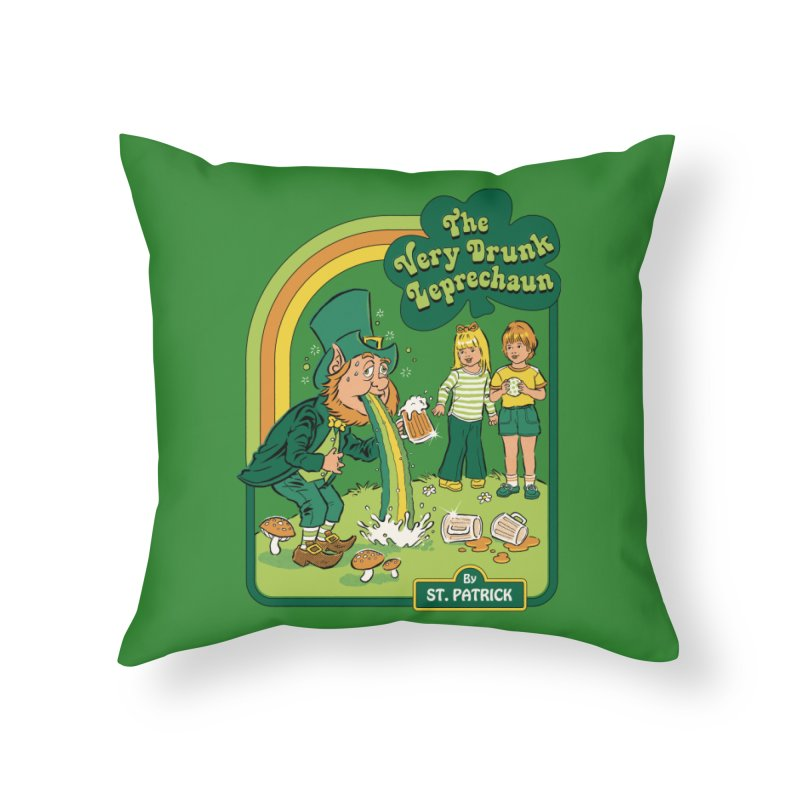The Very Drunk Leprechaun Home Throw Pillow by Steven Rhodes
