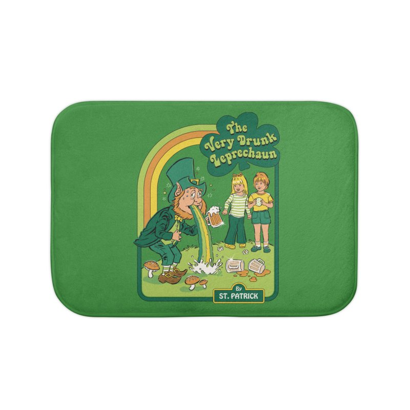 The Very Drunk Leprechaun Home Bath Mat by Steven Rhodes