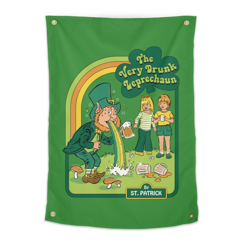 The Very Drunk Leprechaun Home Tapestry by Steven Rhodes