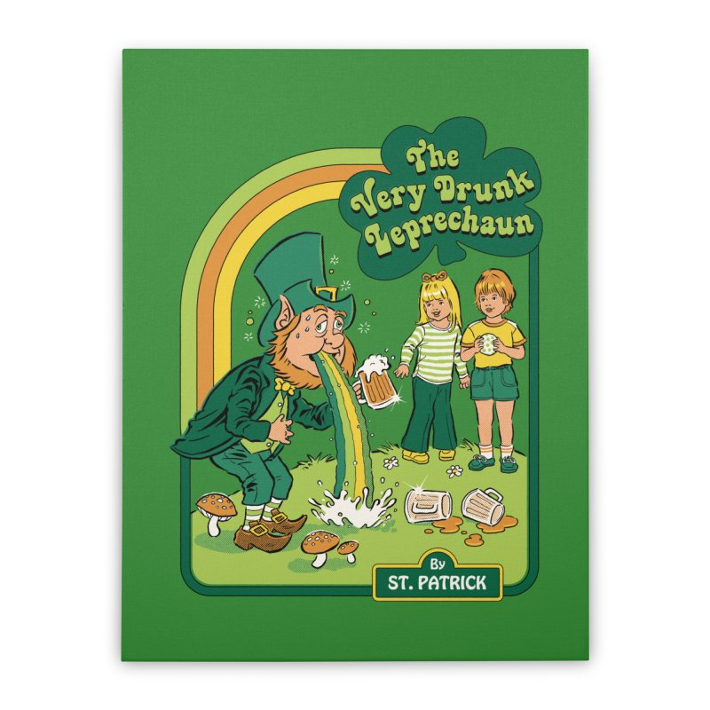 The Very Drunk Leprechaun Home Stretched Canvas by Steven Rhodes