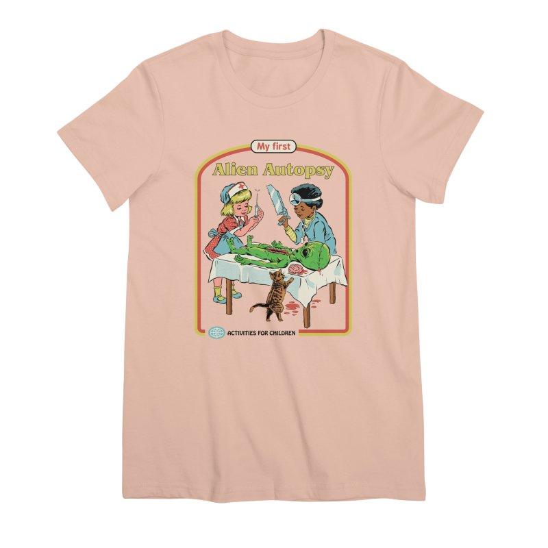 My First Alien Autopsy Women's Premium T-Shirt by Steven Rhodes