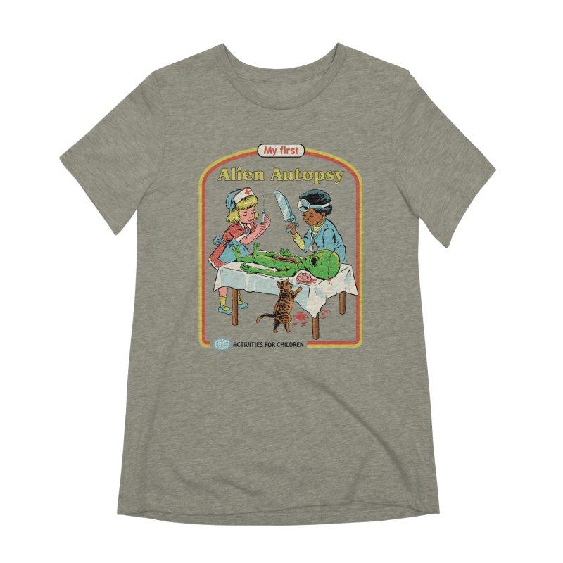 My First Alien Autopsy Women's Extra Soft T-Shirt by Steven Rhodes