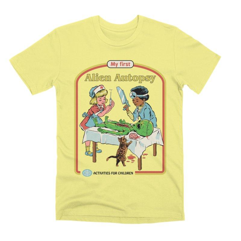 My First Alien Autopsy Men's Premium T-Shirt by Steven Rhodes