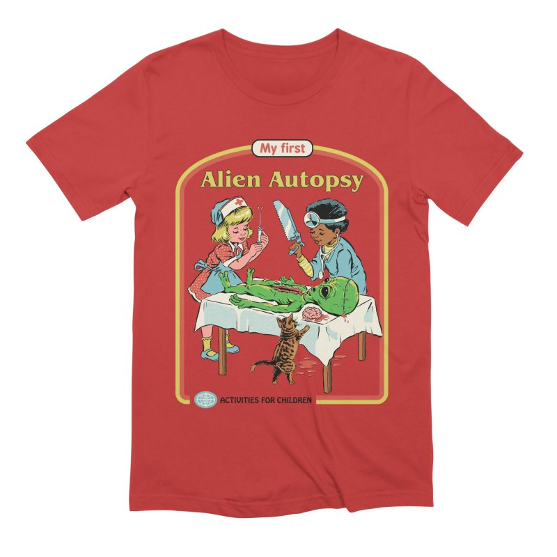 My First Alien Autopsy Men's Extra Soft T-Shirt by Steven Rhodes