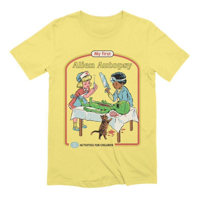 My First Alien Autopsy Men's Extra Soft T-Shirt by Steven Rhodes