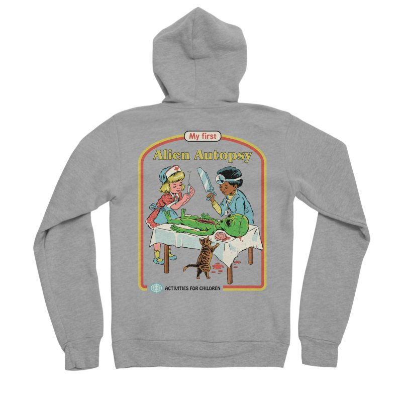 My First Alien Autopsy Men's Sponge Fleece Zip-Up Hoody by Steven Rhodes