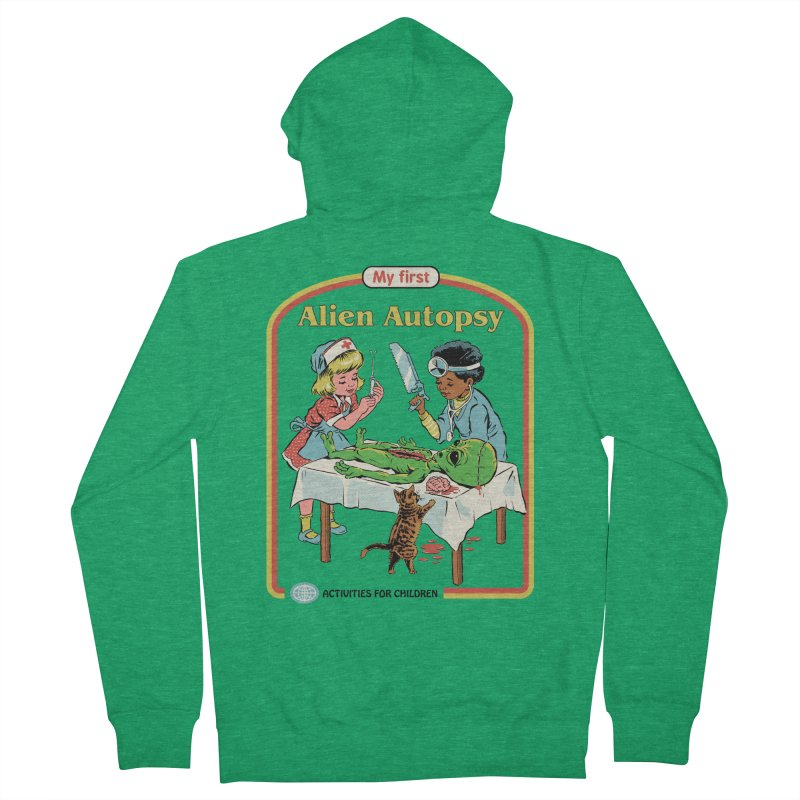 My First Alien Autopsy Men's French Terry Zip-Up Hoody by Steven Rhodes