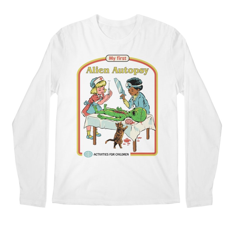 My First Alien Autopsy Men's Regular Longsleeve T-Shirt by Steven Rhodes