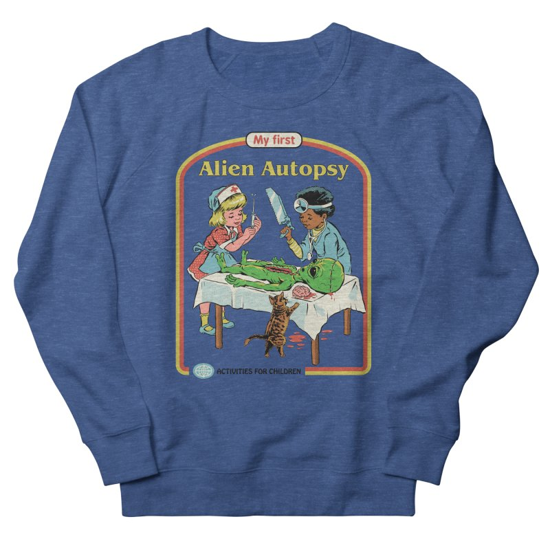 My First Alien Autopsy Men's French Terry Sweatshirt by Steven Rhodes