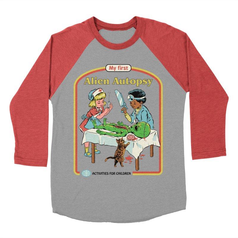 My First Alien Autopsy Women's Baseball Triblend Longsleeve T-Shirt by Steven Rhodes