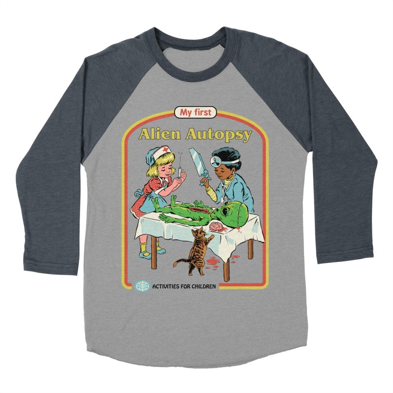 My First Alien Autopsy Women's Baseball Triblend Longsleeve T-Shirt by Steven Rhodes