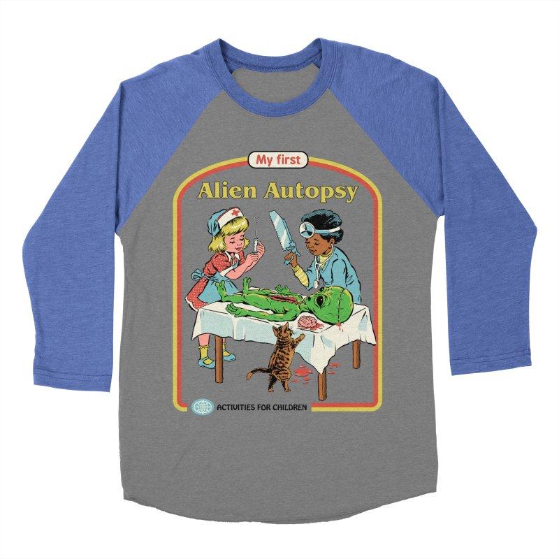My First Alien Autopsy Men's Baseball Triblend Longsleeve T-Shirt by Steven Rhodes