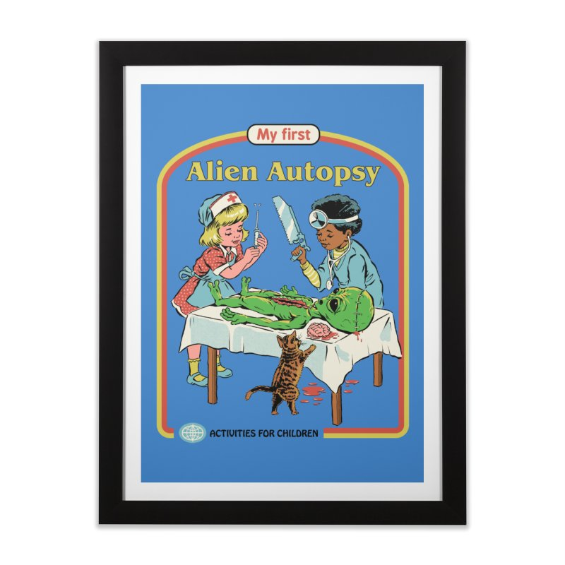 My First Alien Autopsy Home Framed Fine Art Print by Steven Rhodes
