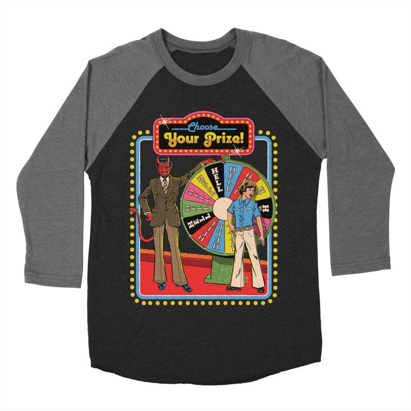 Choose Your Prize! Men's Baseball Triblend Longsleeve T-Shirt by Steven Rhodes