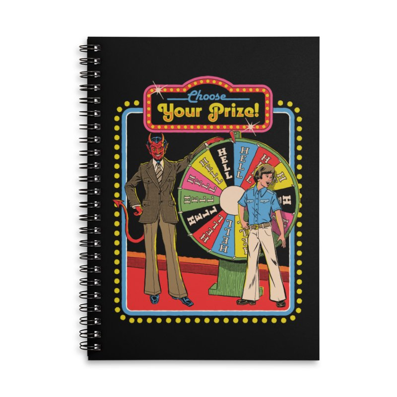 Choose Your Prize! Accessories Lined Spiral Notebook by Steven Rhodes