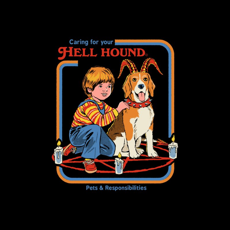 Caring For Your Hell Hound Home Throw Pillow by Steven Rhodes