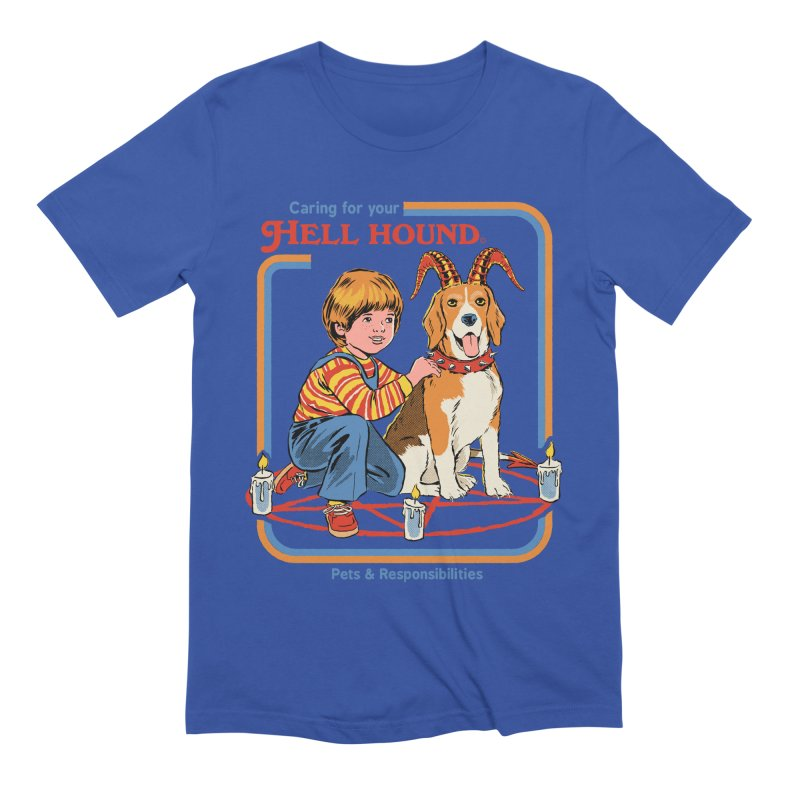 Caring For Your Hell Hound Men's Extra Soft T-Shirt by Steven Rhodes