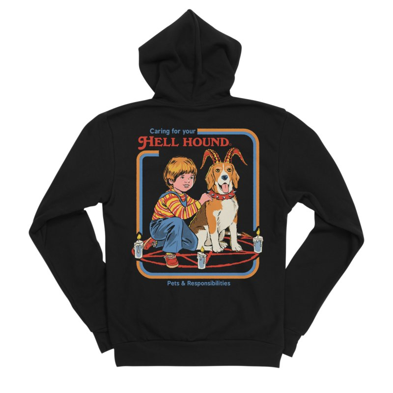 Caring For Your Hell Hound Women's Sponge Fleece Zip-Up Hoody by Steven Rhodes