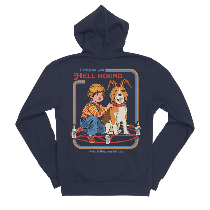 Caring For Your Hell Hound Women's Sponge Fleece Zip-Up Hoody by Steven Rhodes