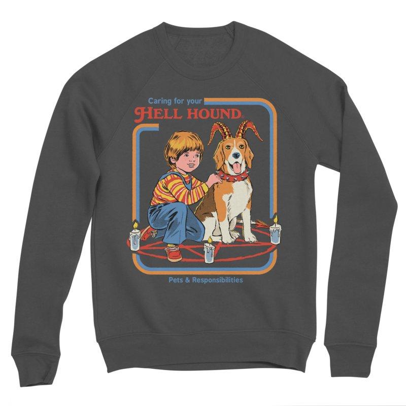 Caring For Your Hell Hound Men's Sponge Fleece Sweatshirt by Steven Rhodes