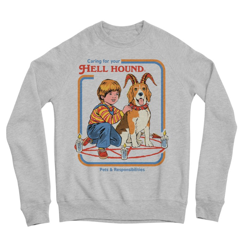 Caring For Your Hell Hound Men's Sponge Fleece Sweatshirt by Steven Rhodes