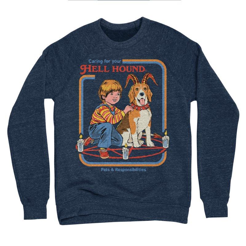 Caring For Your Hell Hound Women's Sponge Fleece Sweatshirt by Steven Rhodes