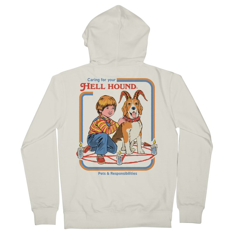 Caring For Your Hell Hound Women's French Terry Zip-Up Hoody by Steven Rhodes