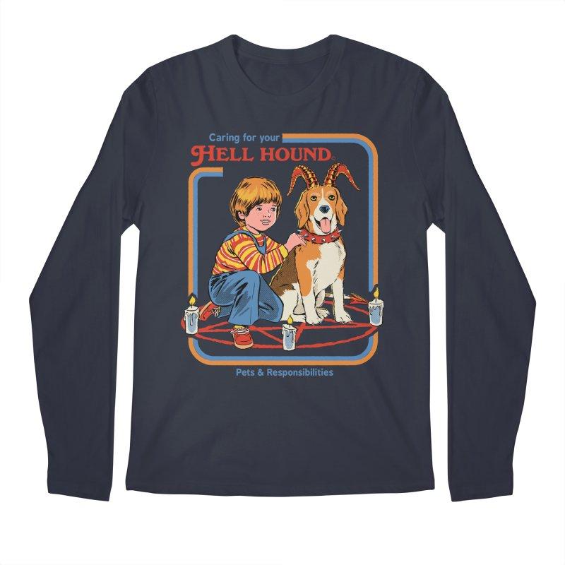 Caring For Your Hell Hound Men's Regular Longsleeve T-Shirt by Steven Rhodes