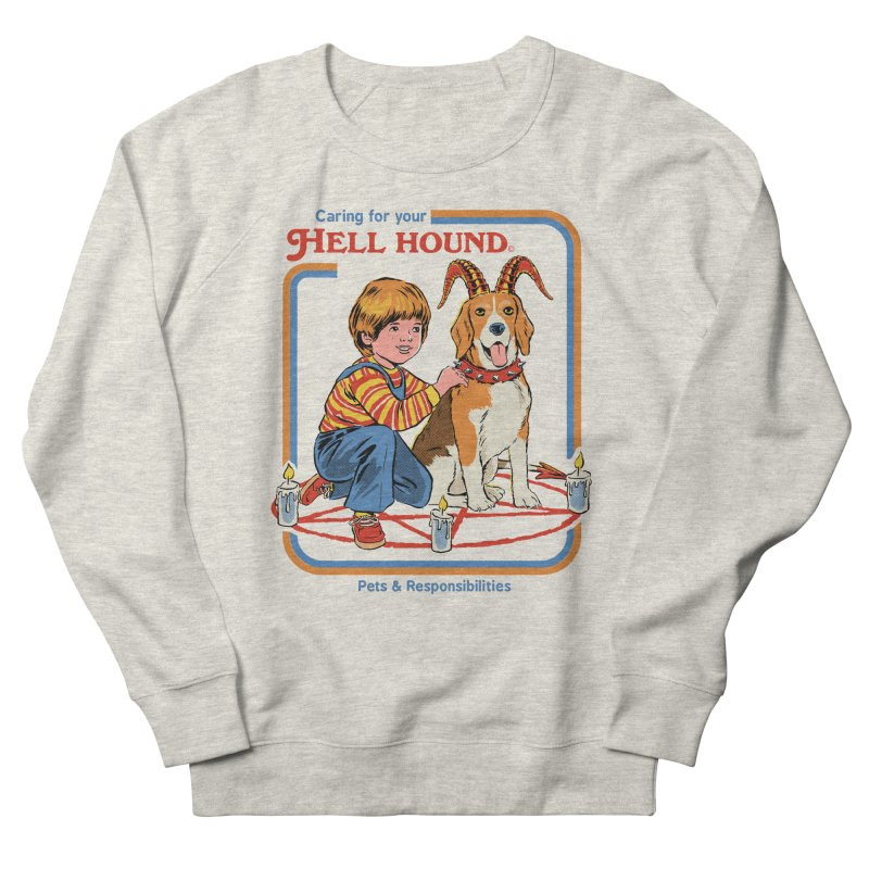Caring For Your Hell Hound Women's French Terry Sweatshirt by Steven Rhodes