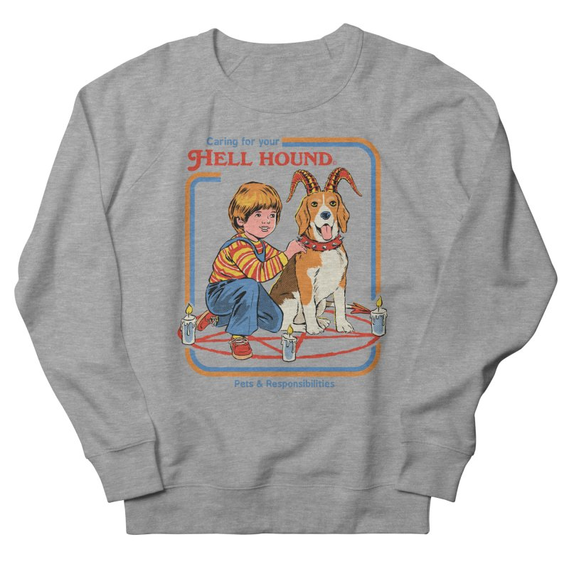 Caring For Your Hell Hound Men's French Terry Sweatshirt by Steven Rhodes