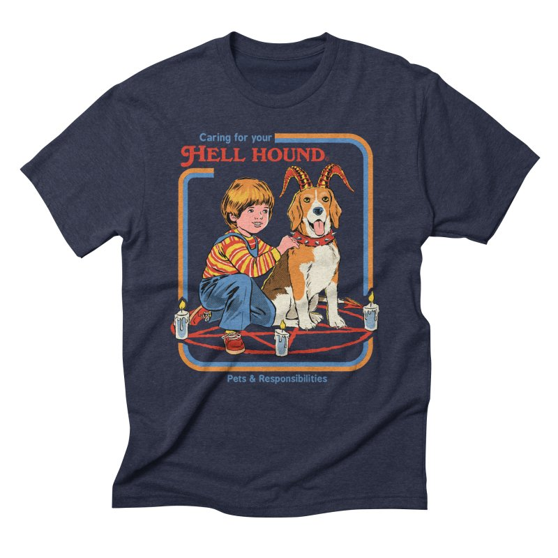 Caring For Your Hell Hound Men's Triblend T-Shirt by Steven Rhodes