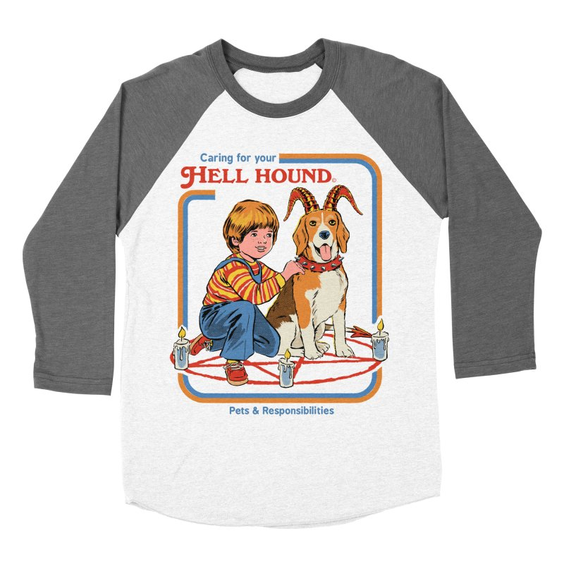 Caring For Your Hell Hound Women's Baseball Triblend Longsleeve T-Shirt by Steven Rhodes